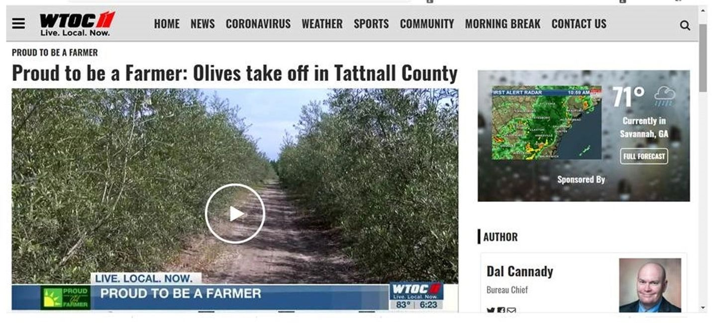 At the scene new report of Woodpecker Trail Olive Farm.