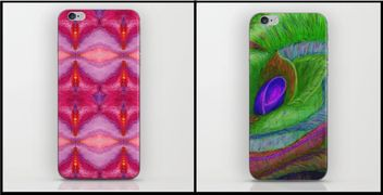 iPhone Skins,Joan of Art,JoanofArt,gift ideas,retro,cool,new,floral,love, passion,iphone gifts,love