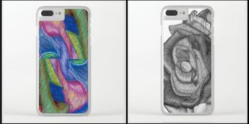 iPhone Clear Cases,Joan of Art,phone cases,phones,tech stuff,gift for her,gift for him,hot items