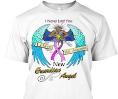 angel tshirt breast cancer ribbon original art by rebecca burg
