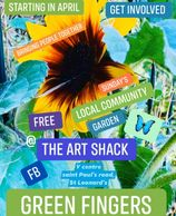 Coming soon get involved .... At the Art shack I'm try to get a community garden group set up .