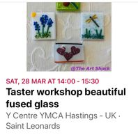 The lovely Berry winters is back again with her beautiful fused glass workshop.