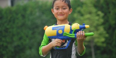 Water Gun Fight at Summer Camp