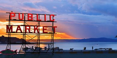 Sign at the Pike Place Market