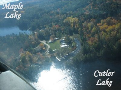 Our Fishing Lodge is a Drive In, nestled between Maple Lake and Cutler Lake,