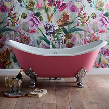 Heritage cast iron freestanding bath paint yourself pink