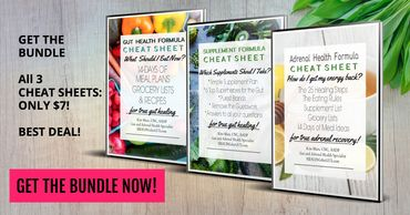 Get the cheat sheets to give you the top leaky gut diet and recipe tips