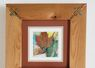 'River Leaves', Oil on canvas in cedar twig frame/available