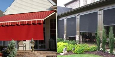 awnings, sunscreens, solar, deck, patio, shelter,