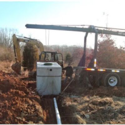 Septic system installation being performed in Mount Vernon, IL