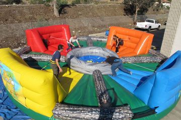 Inflatable Hungry Hungry Hippo game in Nashville TN from www.bouncehouserentalsnashvilletn.com
