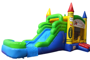 Crayon Themed Bounce HOuse Rental Nashville TN from It's Time 2 Bounce