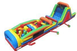 60' Fun Run Obstacle Course inflatable rental from It's Time 2 Bounce in Nashville, TN