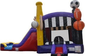 Sports Themed Combo Bounce House Rental Nashville TN from It's Time 2 Bounce