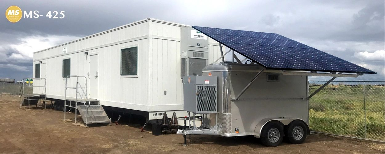 solar generator powering construction trailer
