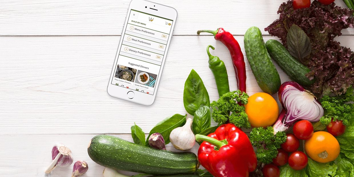 Meal planning using our app.