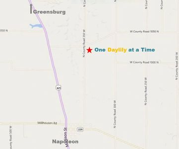 directions to one daylily at a time, daylilies, daylily, daylily garden, map to daylily garden