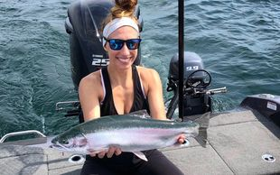 Lake Erie Steelhead Charters - Erie Steelhead can be caught months before they are running up tribs