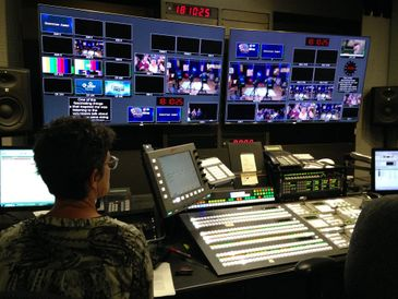 Freelance teleprompter operator near Albany, NY in TV Master Control Room