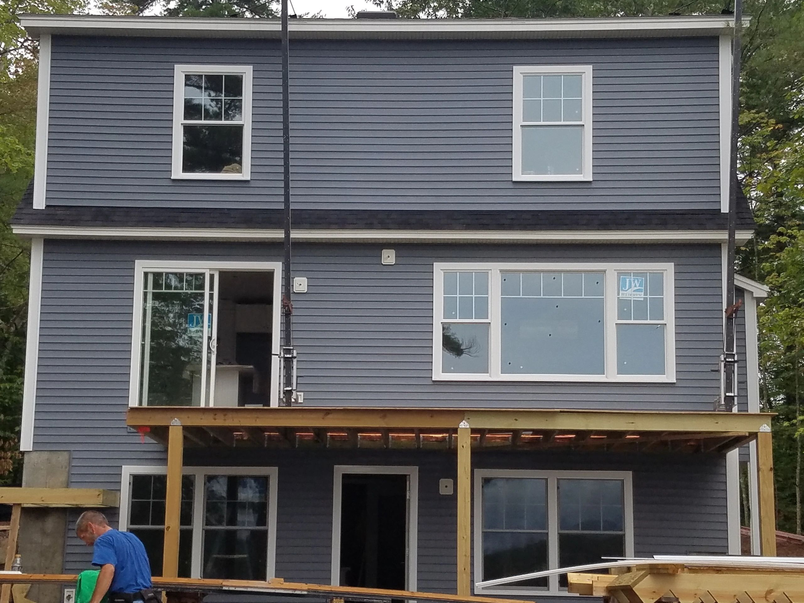 Certain-Teed vinyl siding with all PVC trim boards.
