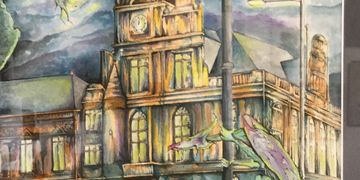 Pen, ink, art, fantasy, watercolour, Roy Platt