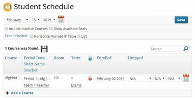 Goliath School Management system software create student schedules