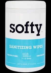 Clean + Sanitize. All With One Wipe. killing 99.9% of every germ in its path.