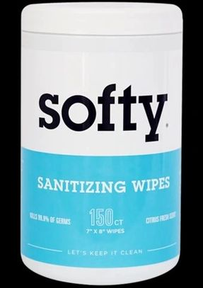Clean + Sanitize. All With One Wipe.