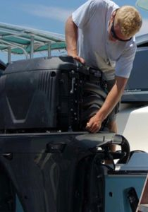Yamaha outboard service done by a technician at Cather Marine Inc.