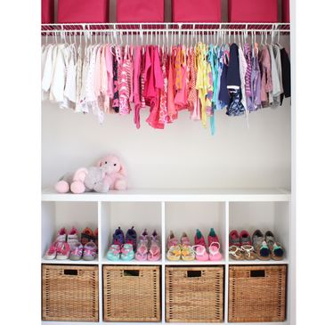 Perfectly organized kid closet