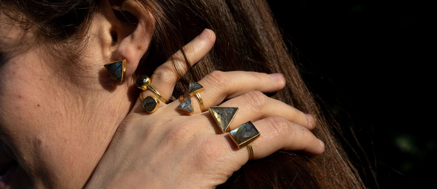 semi precious gemstone handmade unique jewellery by YAA YAA LONDON YYL LUXE