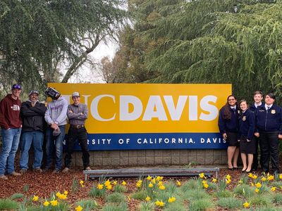 Ag Mechanics and Milk Quality Teams competing at the 2019 UC Davis Field Day.