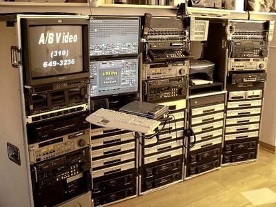 This is our VHS to DVD videotape transfer bay. Also, with Digital Audio Tape to CD, Hi8 and MiniDV to DVD dubbing facilities.