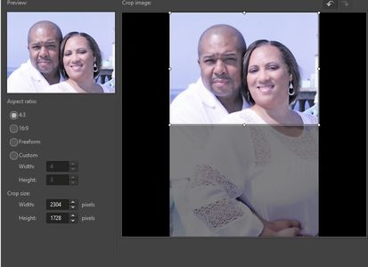 This image, portrays how we can take your vertical cellphone video and crop it fill the screen.