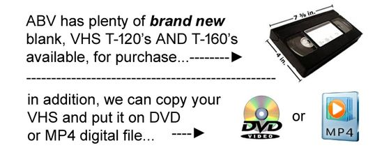 VHS videotape 4 sale diagram
