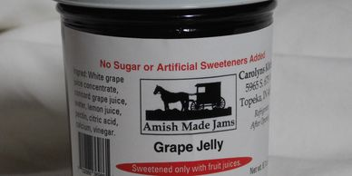 Homemade jam and Grape jelly. Sign up with your email to receive 10% off on your first purchase.
