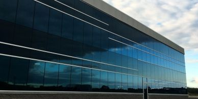 curtinwall, commercial, windows, exterior glass, aluminum doors