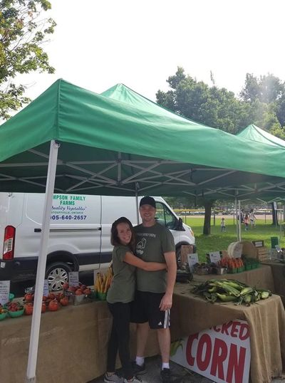Jared and Nikki Simpson at the Aurora Farmers' Market