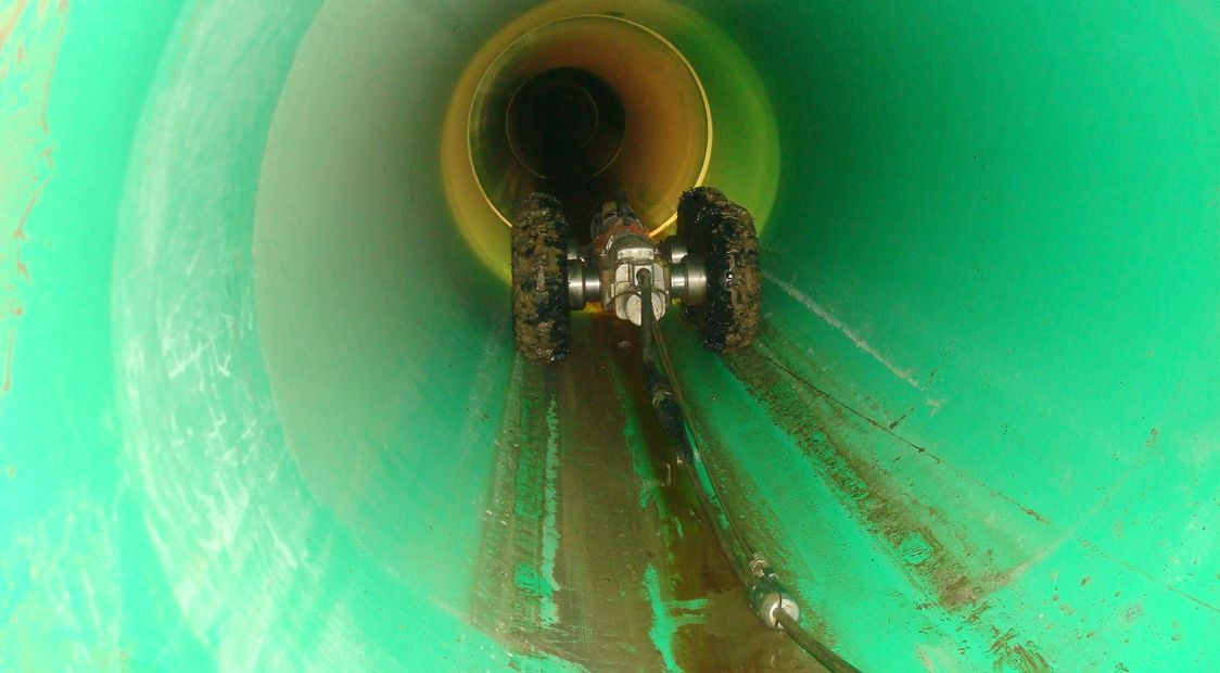 POST-CONSTRUCTION PIPE INSPECTION. CLEANED AND JETTED PIPE THEN VIDEOED AND DATA RECORDED.