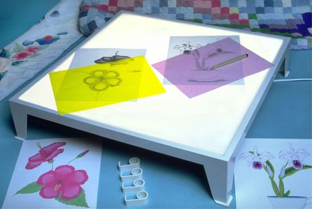 Light Table useful for tracing desings onto fabric or paper. Embroidery, quilting, fabric painting