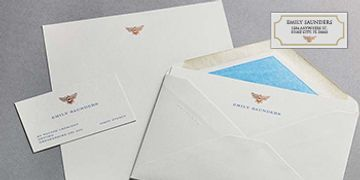 stationery, letterheads, envelopes, writing paper, note cards, greeting, memo, pads, address labels