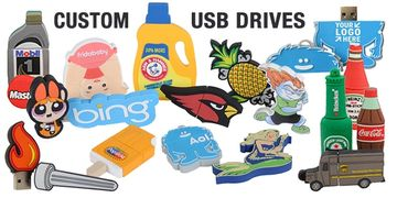 Turn any object, product, logo or shape into a USB flash drive! Great promo product or resale item!