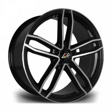 LMR Rave gloss black polished twin 5 spoke wheels