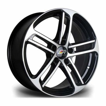LMR Wheels black polished face twin five spoke alloy wheels