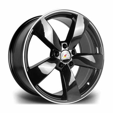 LMR Tiago  gloss black polished lip 5 spoke wheel