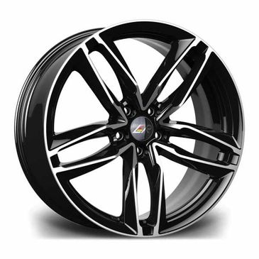 LMR Zeus gloss black polished twin 5 spoke alloy wheel