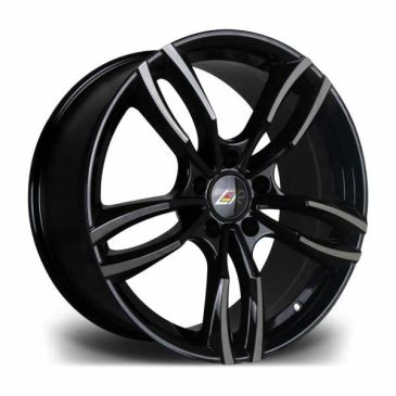 LMR stag gloss black twin 5 spoke wheel