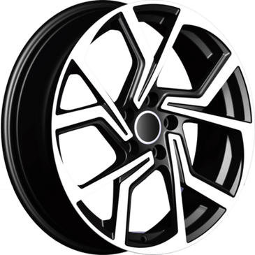 Bossini wheels.  Bossini Cyclone black polished twisted 5 spoke wheels.