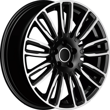 Bossini wheels. Bossini Mirage black polished multi spoke wheels.