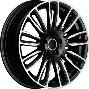 Bossini wheels. Bossini Vanity Black polished 9 spoke twin wheels.